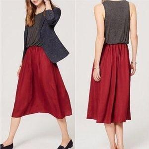 .LOFT//Duet bubble waist sleeveless maxi dress